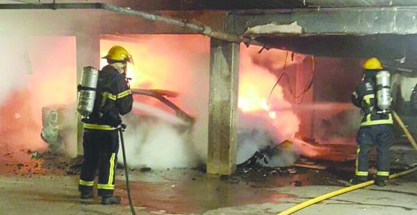 Underground car park goes up in flames