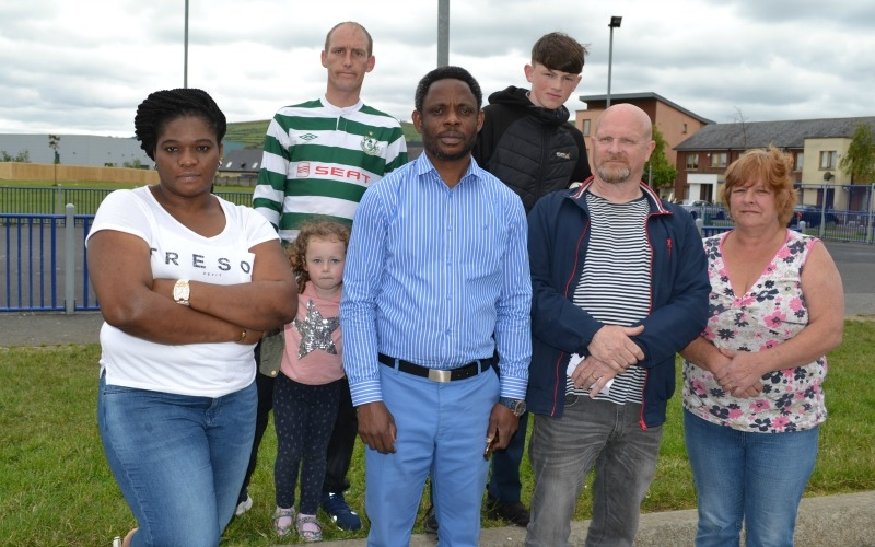 Residents unite in taking a stand against racism