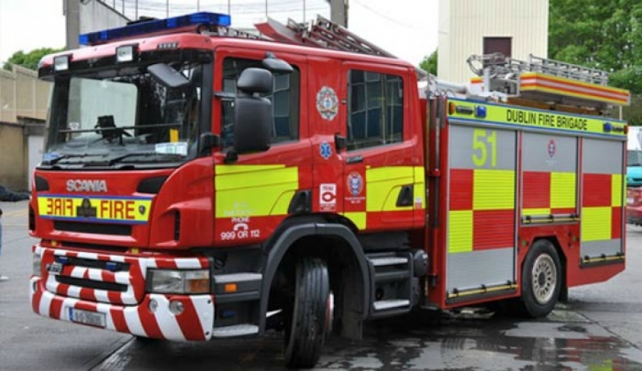 Dublin Fire Brigade battled a house fire in Tallaght last night
