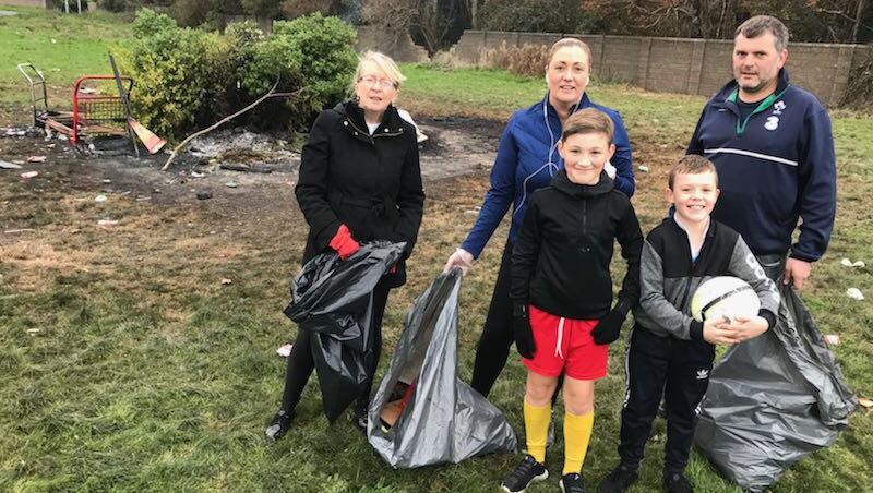Kilnamanagh community restore damaged pitches