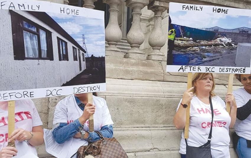 Group demand investigation into demolition of mobile home