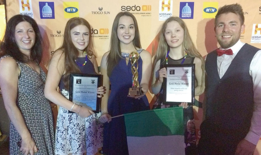 St Joseph's College enterprising schoolgirls win gold in South Africa