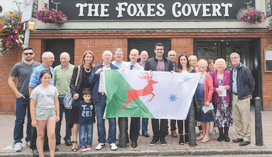 Molloy's proudly fly the Unity Flag outside the pub