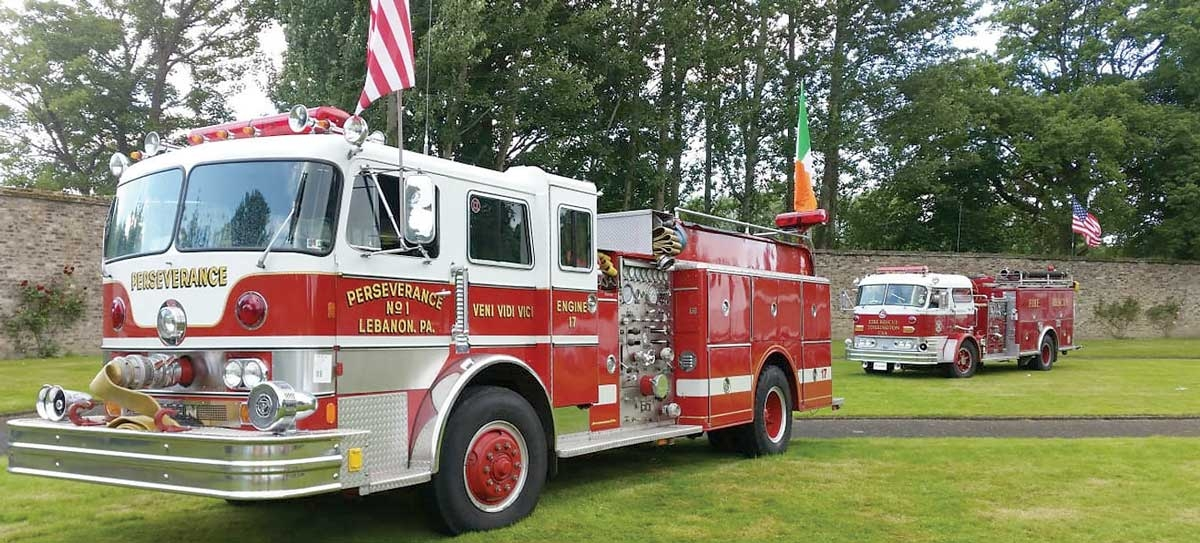 Vintage US fire trucks fuel Liam's engine passion and help charities