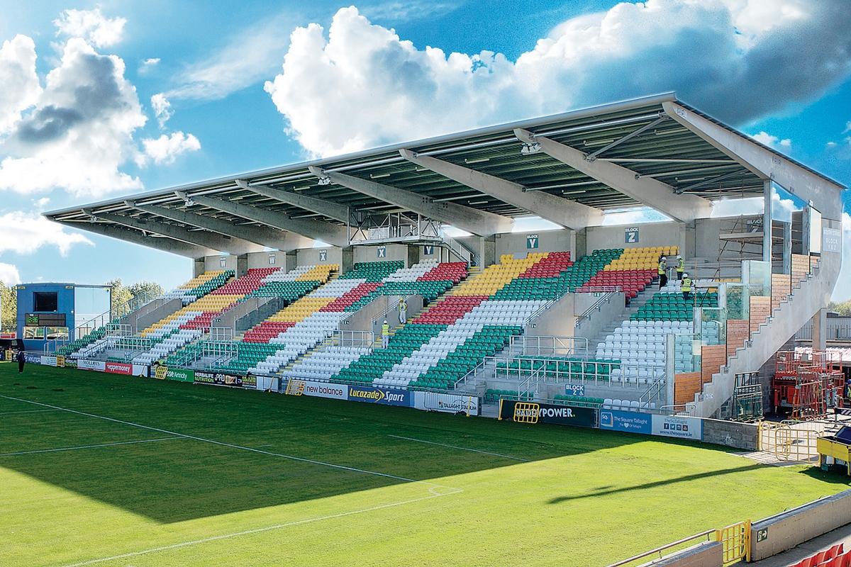 Third stand at stadium is starting to take shape