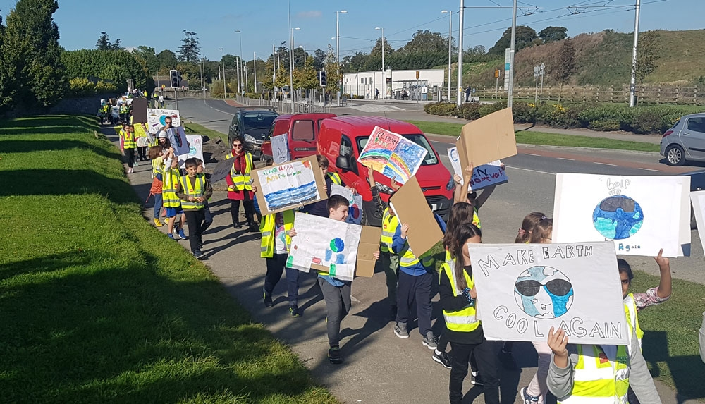 Local school kids join global climate strike
