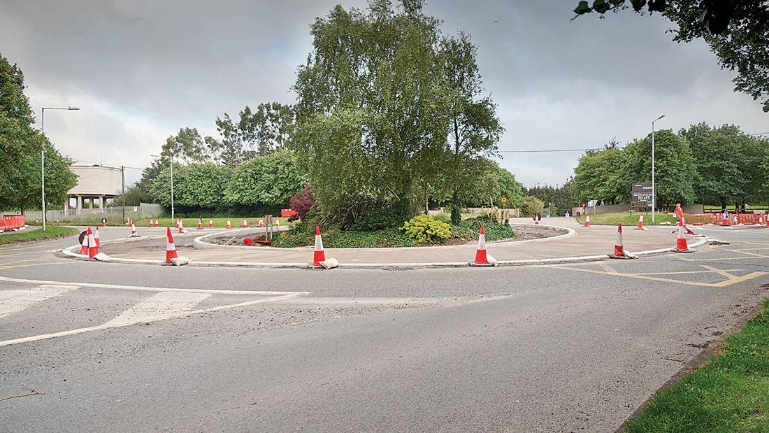 Major upset at loss of traffic lane at roundabout