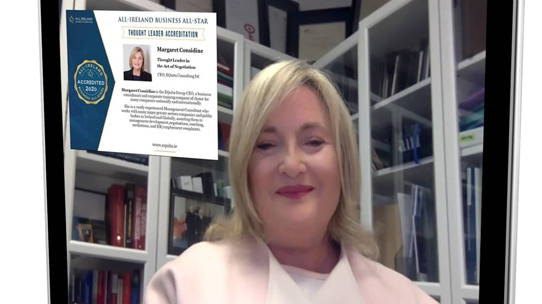 Margaret is awarded with Thought Leader accreditation