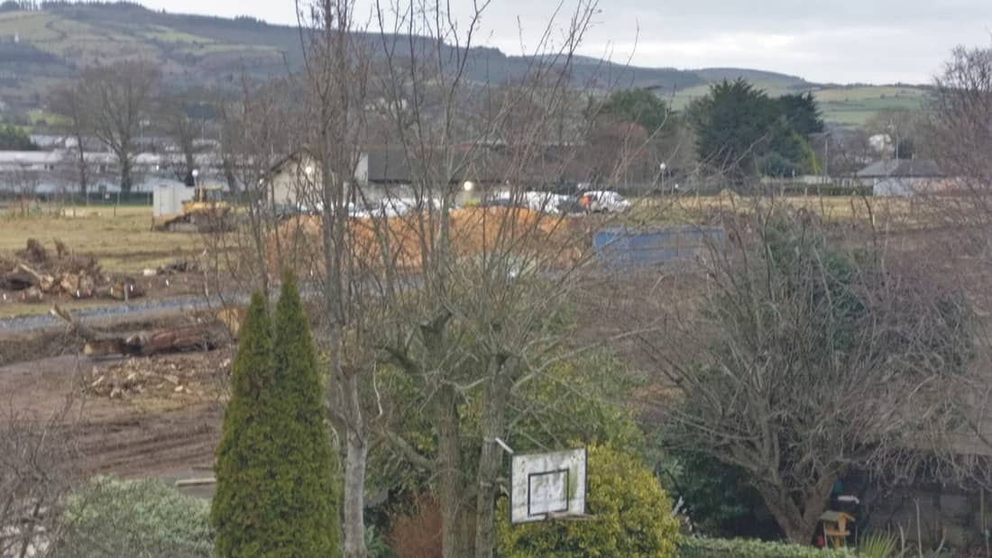 Residents surprised to see workers on Cosgrave site