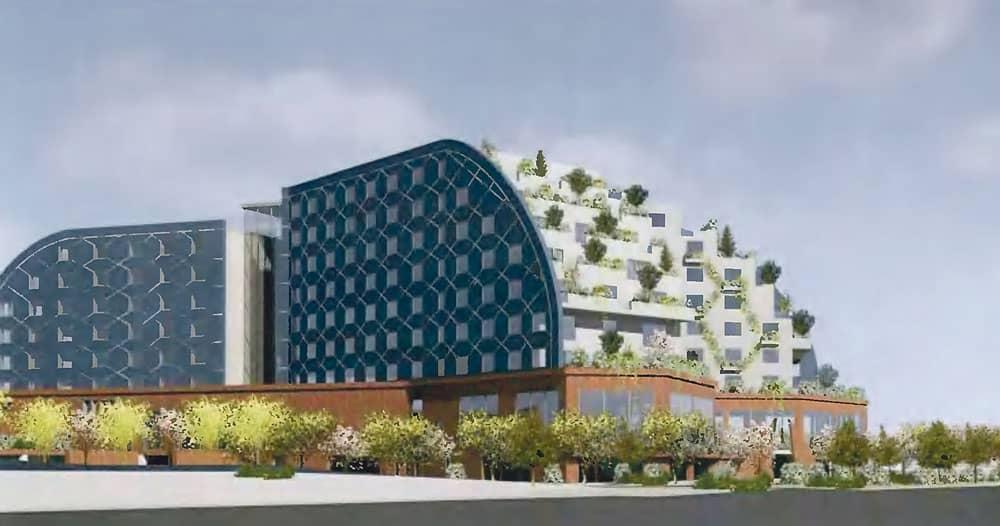 New design for planned hotel puts focus on 'wildlife habitats'