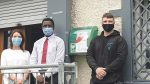 Pharmacy and medical centre help provide new defibrillator